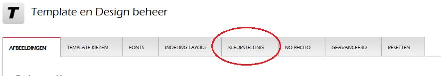Hoe kan ik het kleurenpallet wijzigen van de basis?