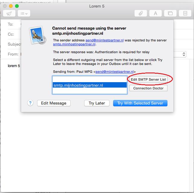 Ik wil mijn mail instellen voor Mac OS X, hoe moet ik dat doen?