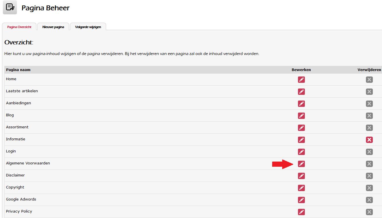 Algemene voorwaarden instellen voor uw webshop