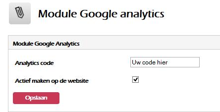 Google analytics actief maken