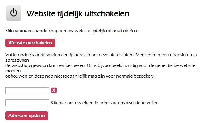 Hoe kan ik de website afsluiten van verkeer?