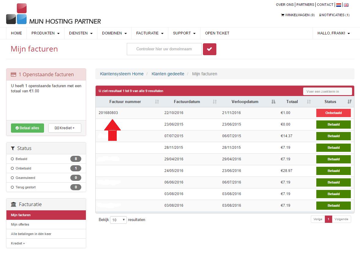 hoe betaal ik een webhosting factuur mijnhostingpartner.nl 3