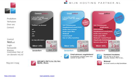 Terugblik in de tijd voor MijnHostingpartner hosting