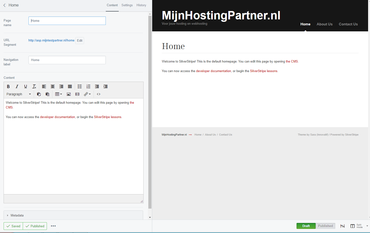 Silverstripe hosting