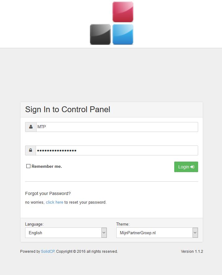 Control panel wachtwoord wijzigen 1