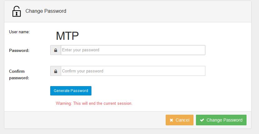 Control panel wachtwoord wijzigen 3