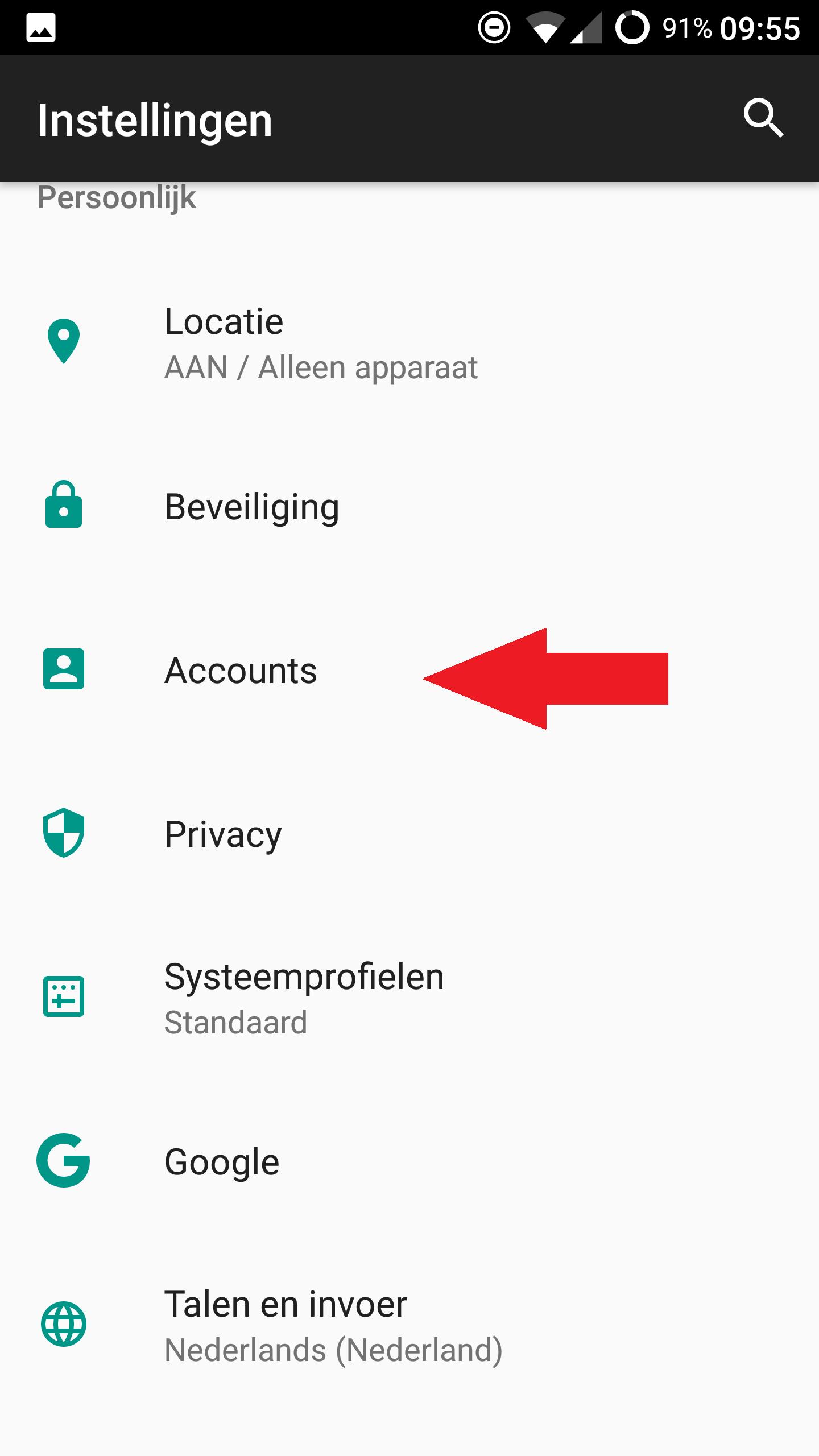 Android mail instellen 7