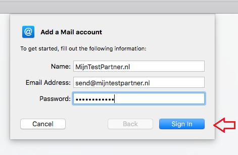 MijnHostingPartner.nl mac mail instellingen