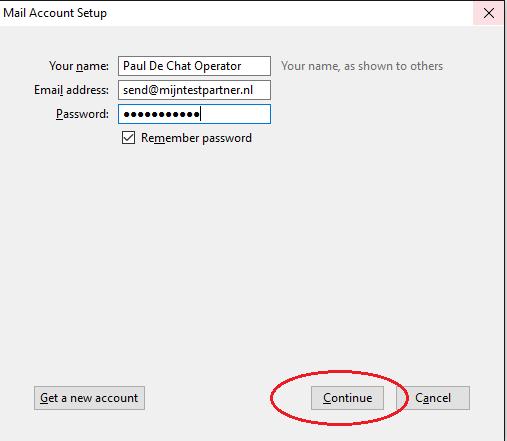 Email instellen Thunderbird