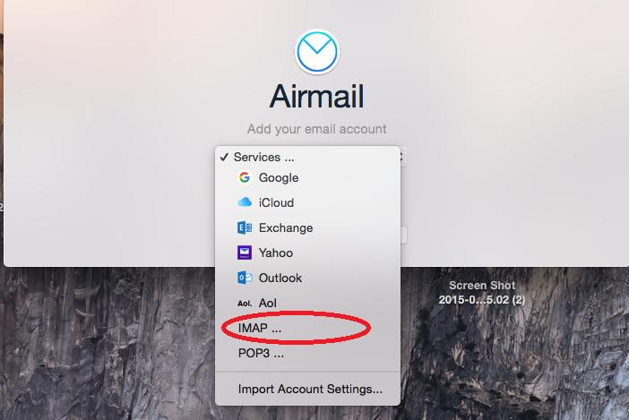 Email instellen - Airmail Apple