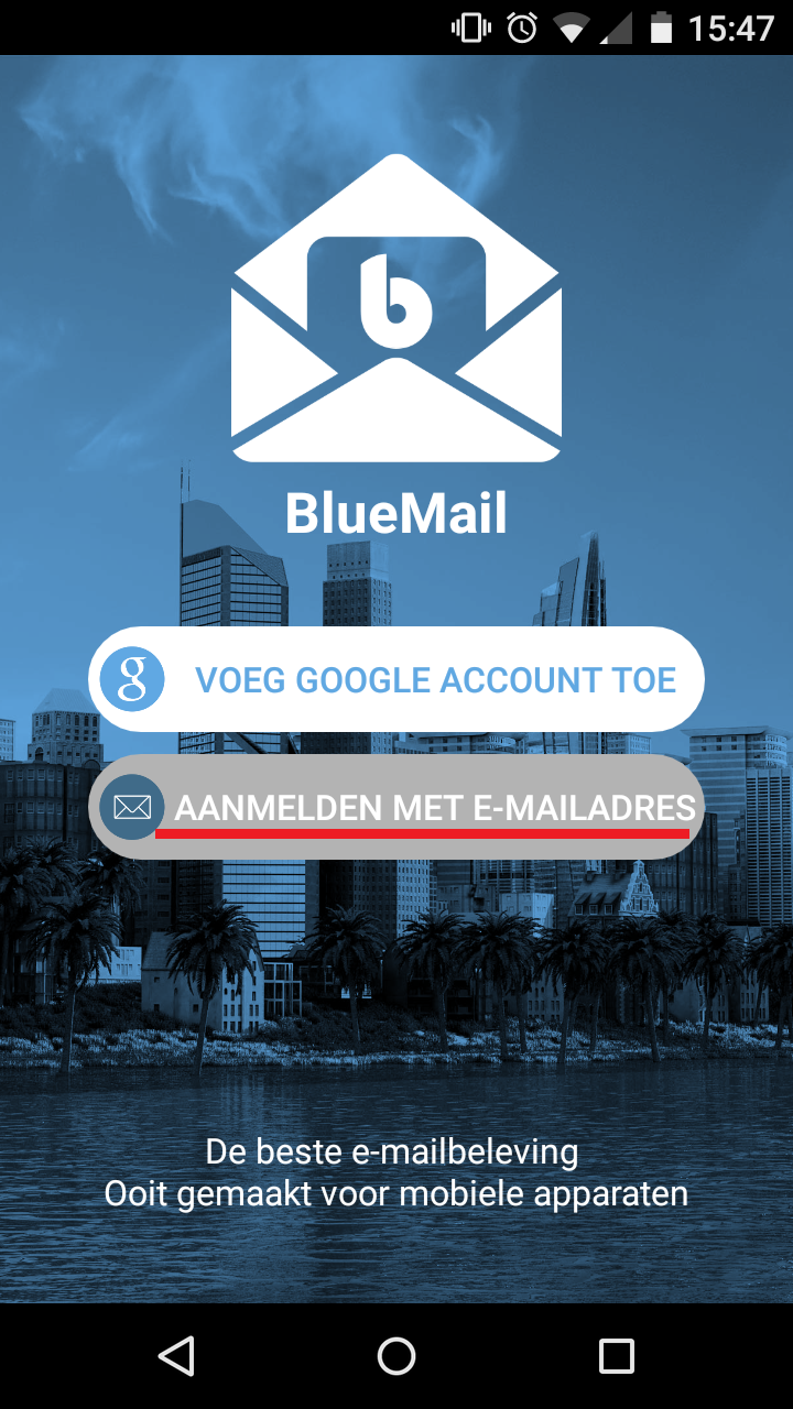 Bluemail instellen android 1