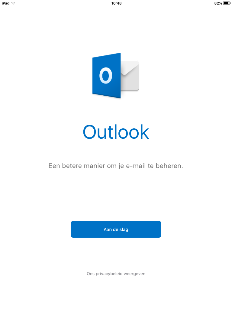 Email instellen - Outlook IOS