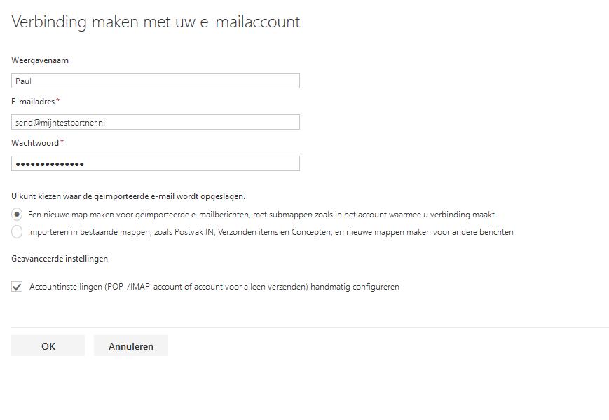 outlook com mail instellen