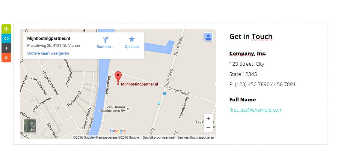 Google maps URL wijzigen