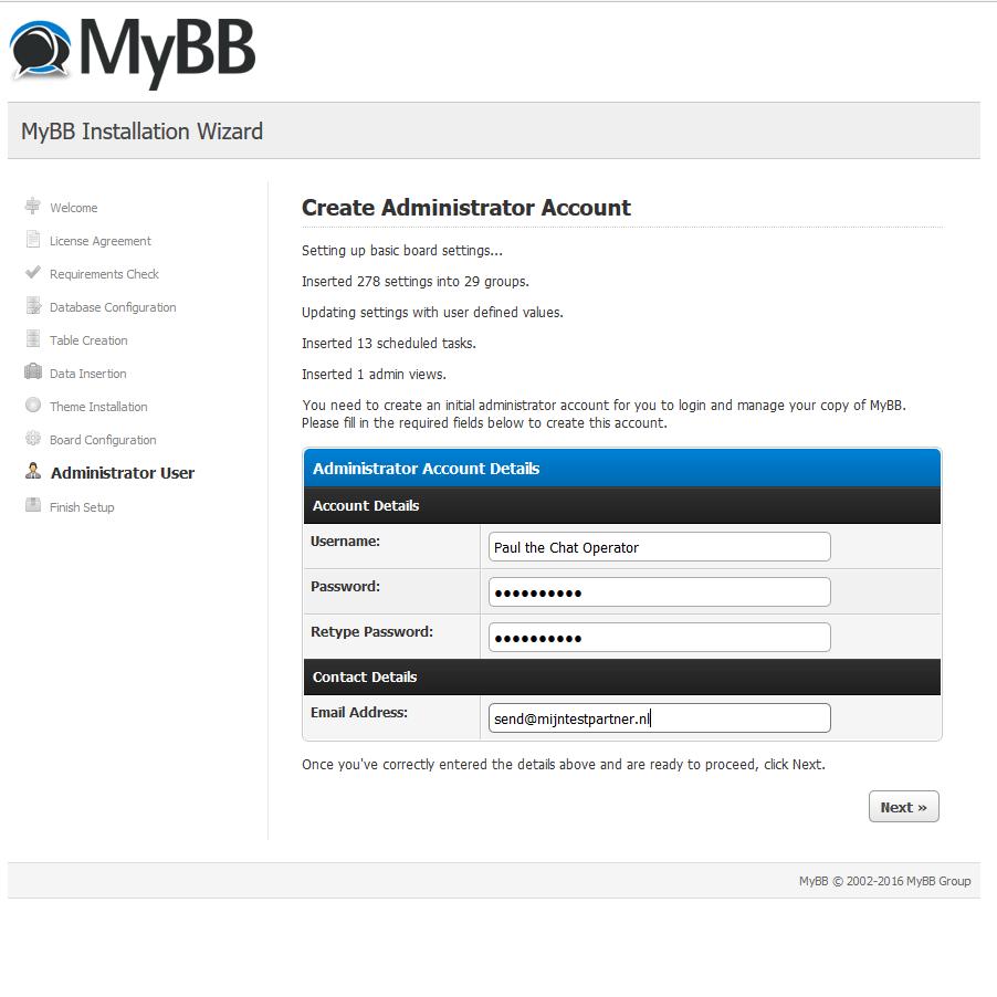 MyBB installeren