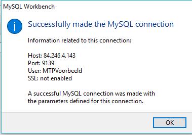 Connectie maken met MySQL workbench