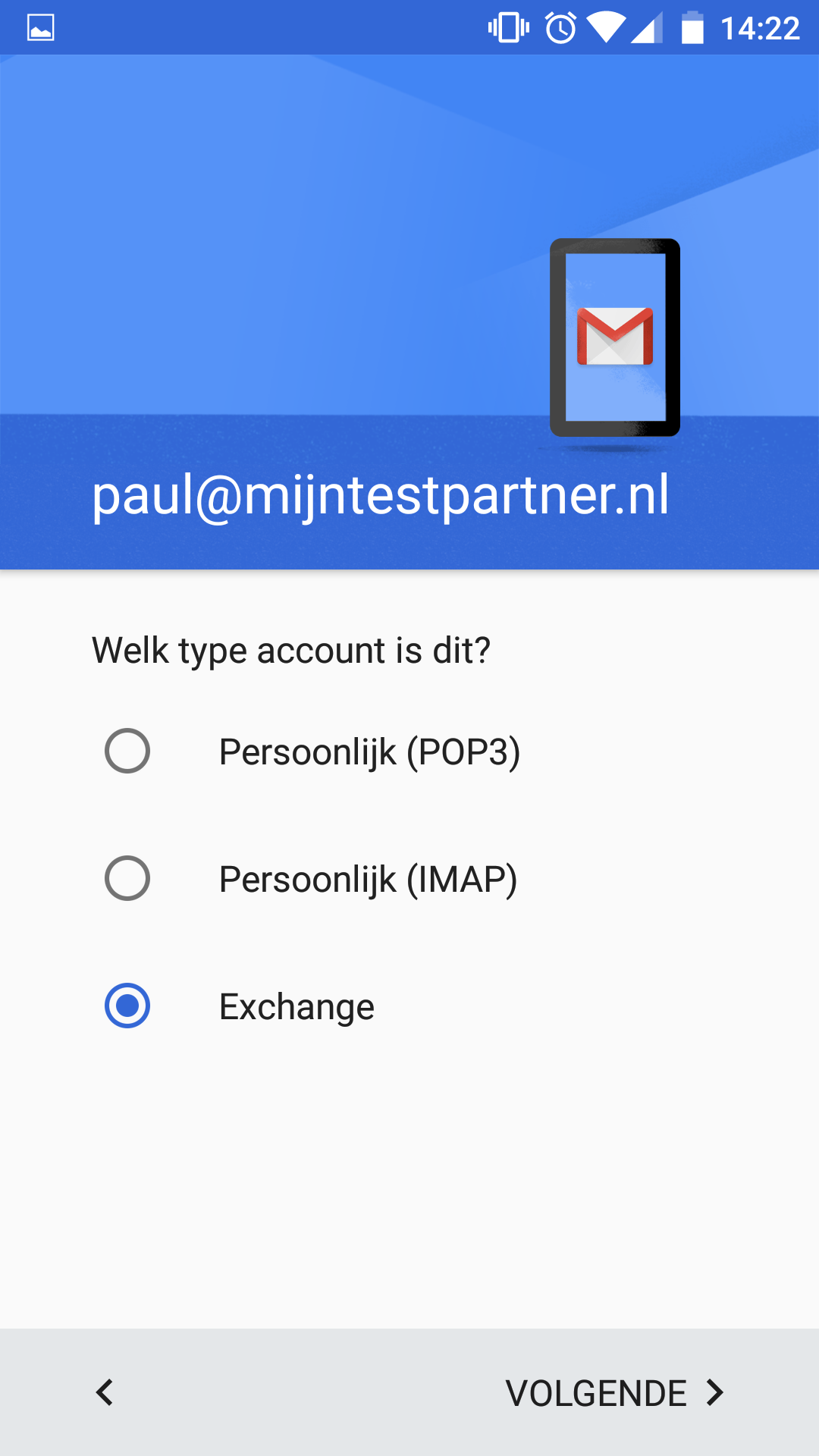 Push mail instellen - Android 6