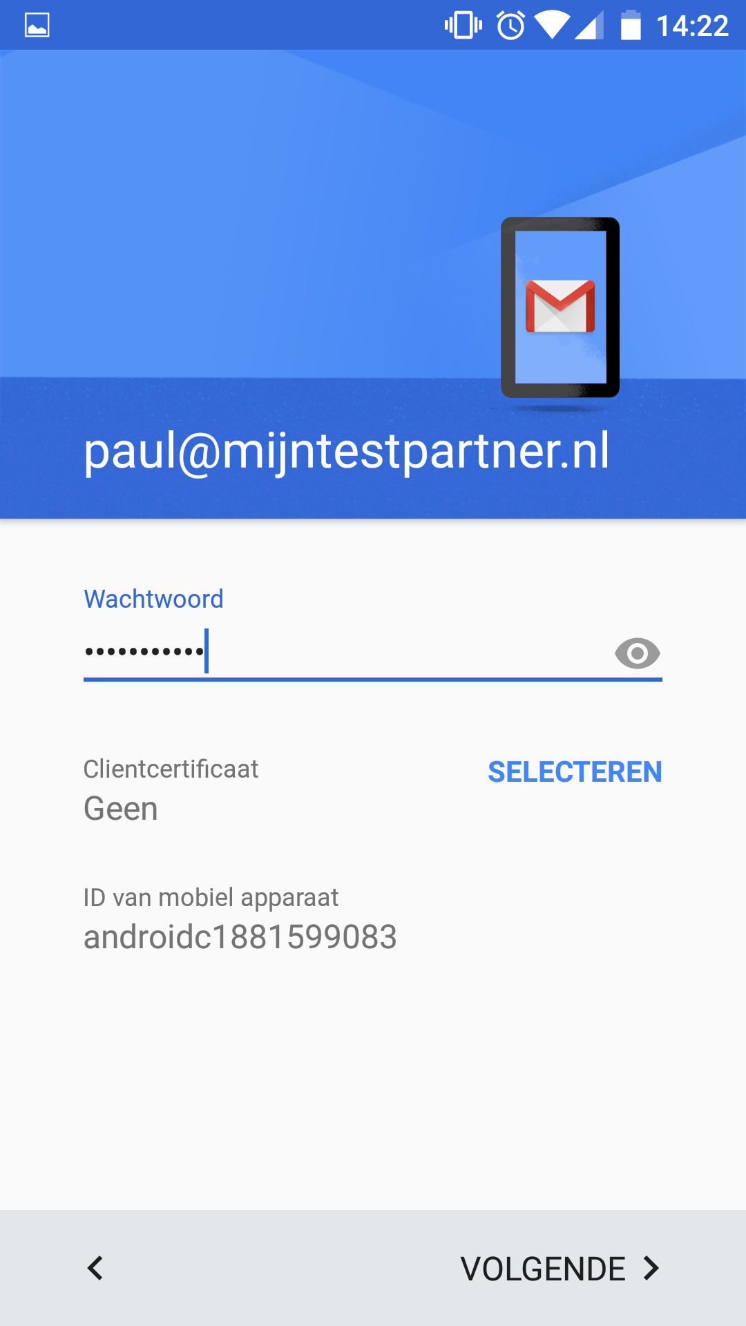 Push mail instellen Gmail app android 6 3