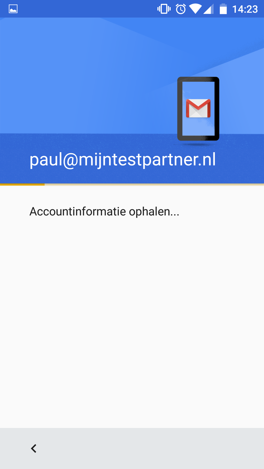 Push mail instellen Gmail app android 6 4