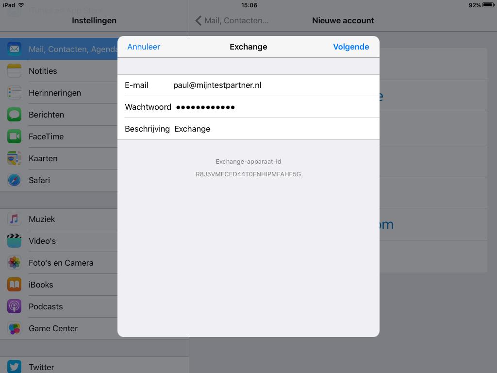 Push mail instellen IOS 1