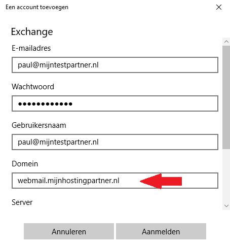 Push mail instellen - Windows 10