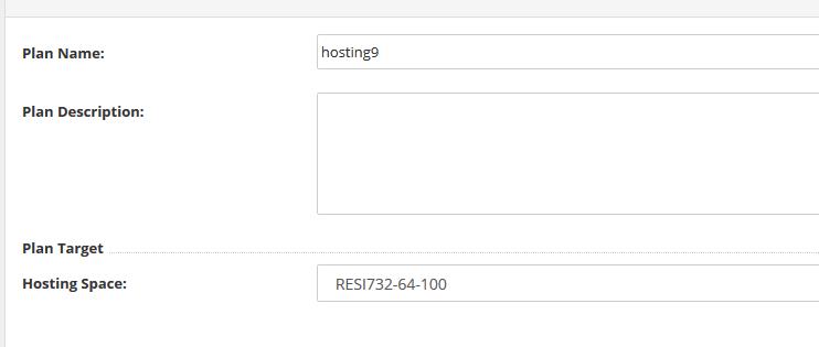 reseller hosting plan aanmaken