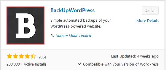 Backup maken van wordpress 1