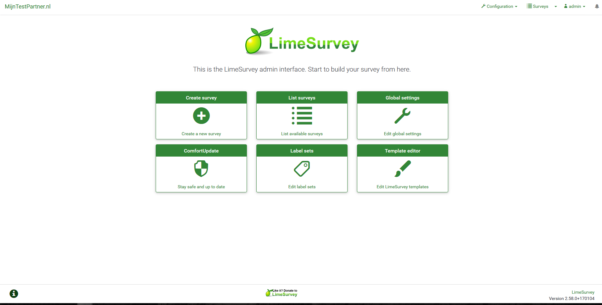Limesurvery installeren 8