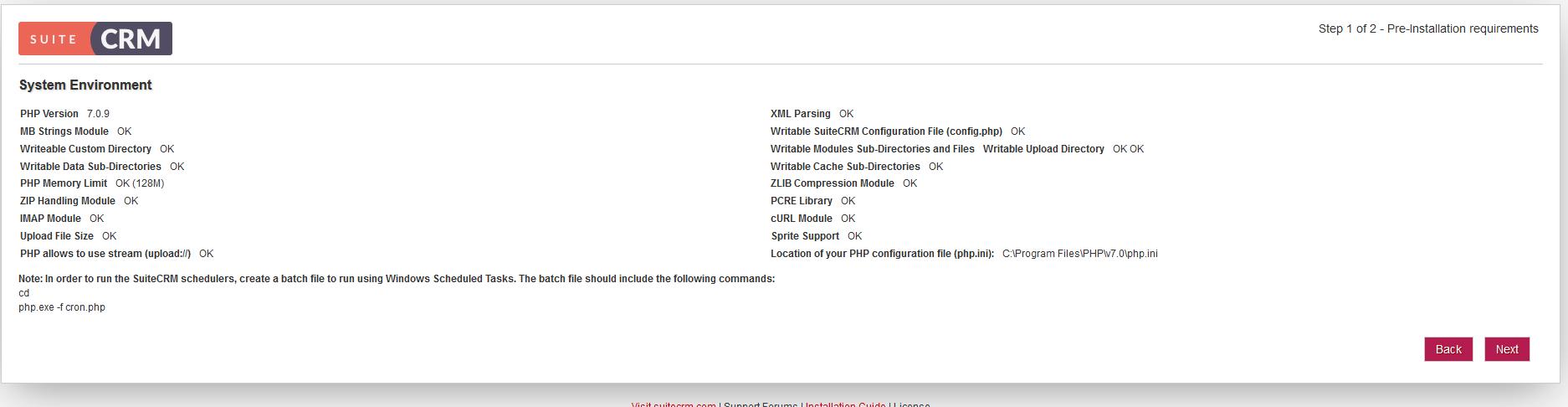 Installeren van SuiteCRM