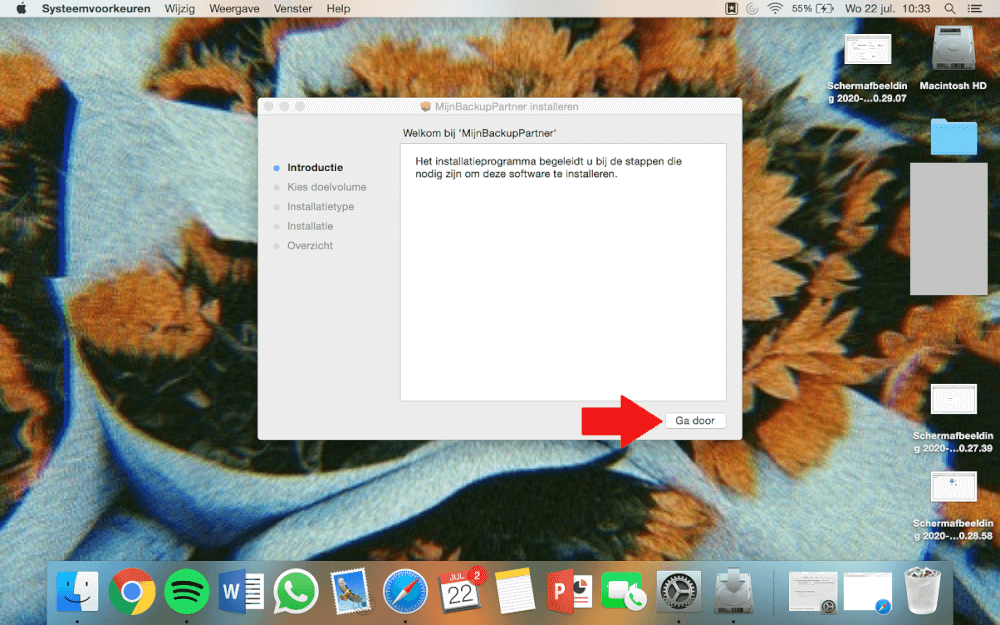 De Backup software downloaden - Mac OSX