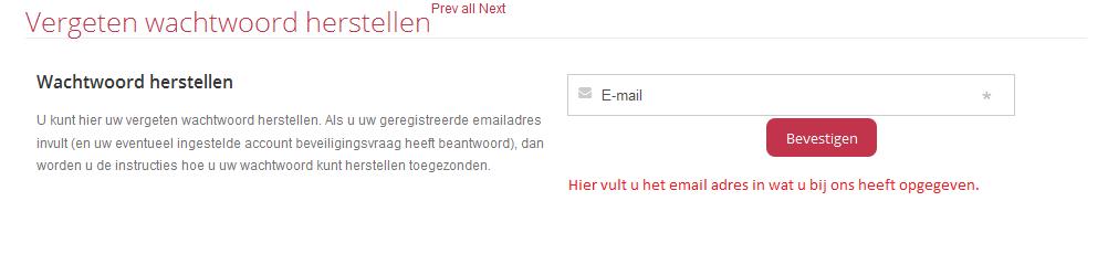 Klantenpanel wachtwoord resetten 2