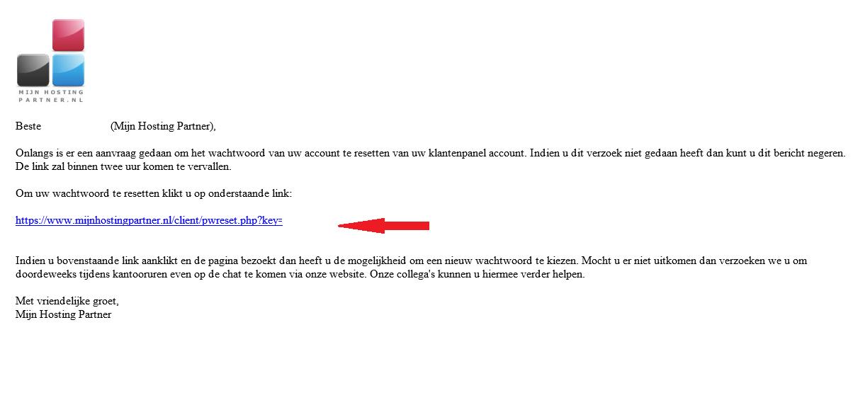 Klantenpanel wachtwoord resetten 3