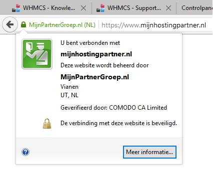 Algemene informatie - SSL certificaat