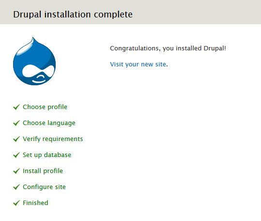 Drupal installeren