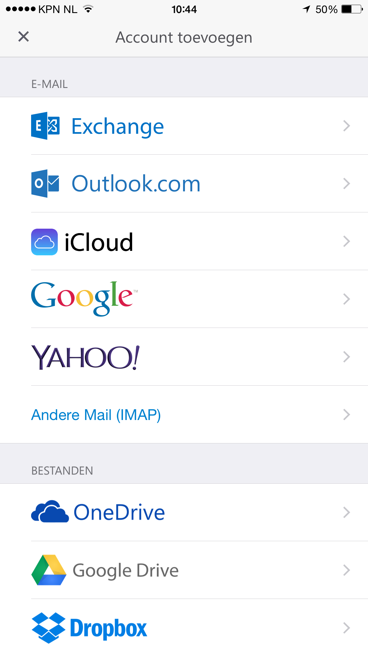 Email instellen - Outlook app