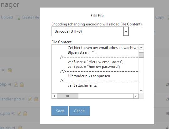 Webbuilder X5 smtp aanpassen 4