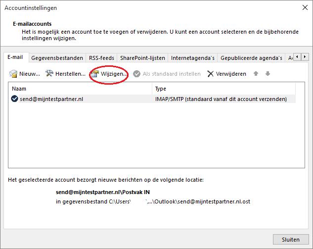 Outlook 2016 - bug IMAP mail verwijderen