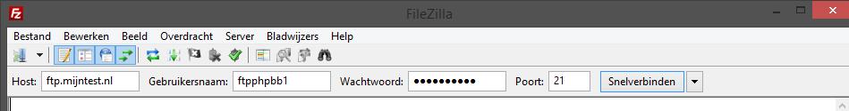 Hoe kan je in filezilla geen connectie maken? Easiest job ever