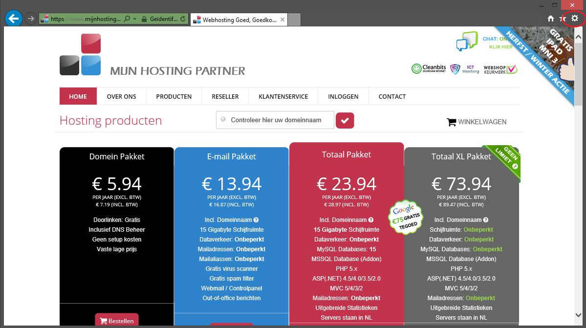 500 foutmelding oplossen voor webhosting 1