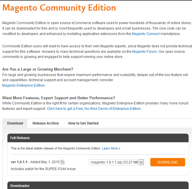 Magento installeren op windows hosting 1