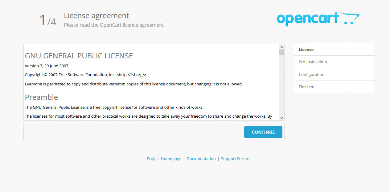 OpenCart Installatie