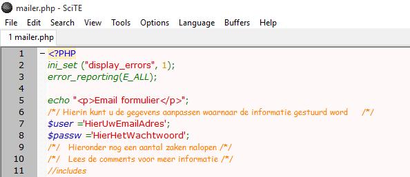 mijnpartnergroep.nl php mailer mailen mijnhostingpartner.nl