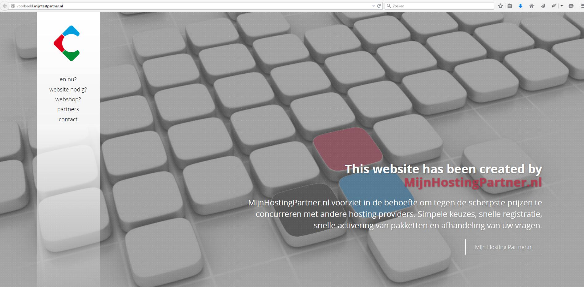 Default pagina MijnHostingPartner.nl verwijderen 1