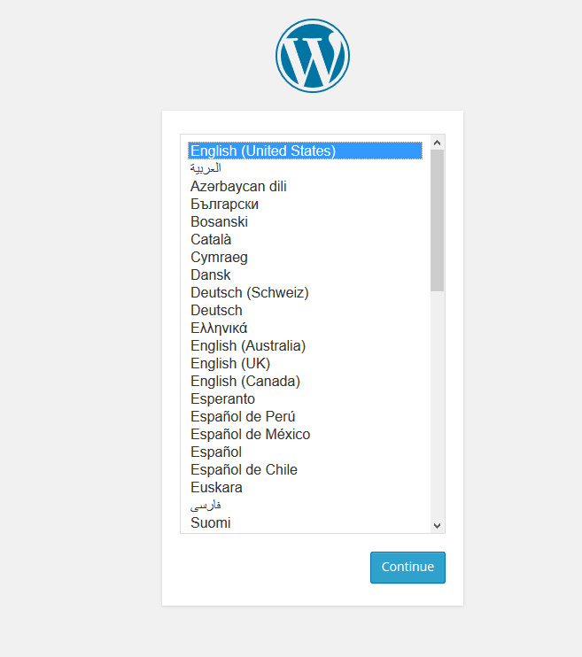 Wordpress installeren via web app 8