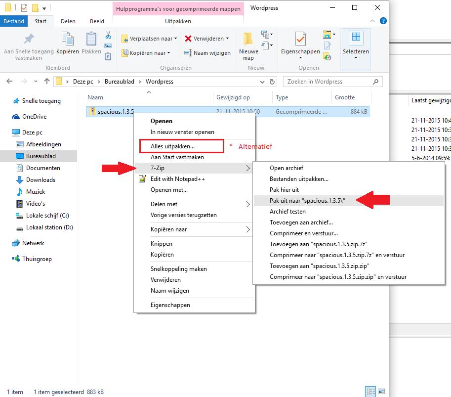thema installeren binnen wordpressmijnhostingpartner.nl