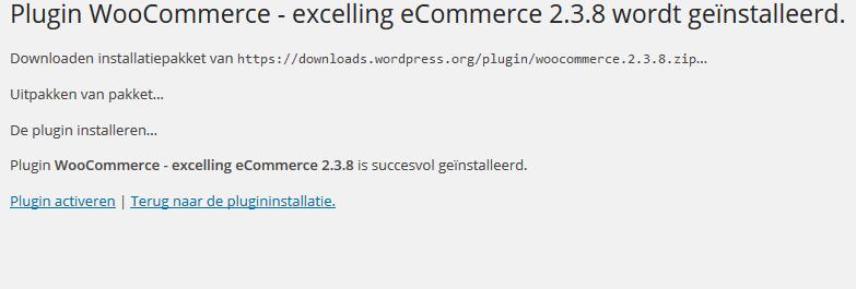 woocommerce voor wordpress installeren