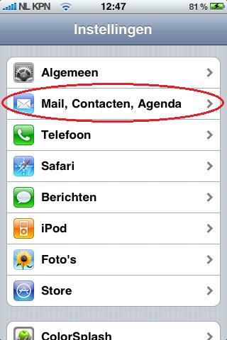 Mijn Hosting Partner - Mail instellen op Iphone 1
