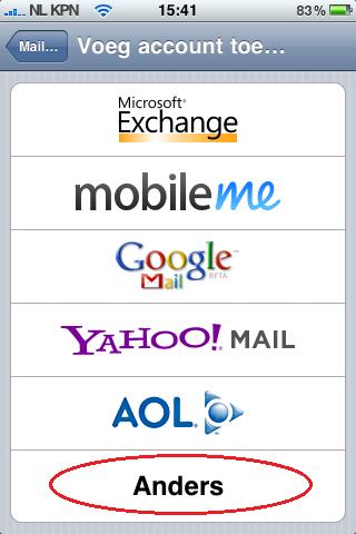Ik wil mijn mail instellen voor mijn iPhone, hoe moet ik dat doen?