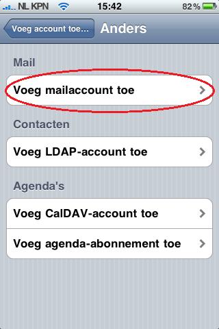 Mijn Hosting Partner - Mail instellen op Iphone 3