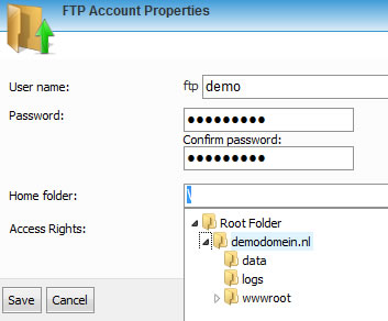 Sitebuilder - FTP Account